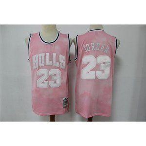 Chicago Bulls Michael Jordan Pink Jersey